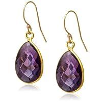 [ダブル・ブイ・ジュエリー] Double V Jewelry スモールティアドロップストーンピアス 0177-G  Amethyst