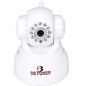 DB POWER Indoor IP Wireless CCTV Camera Win7 MAC Built-in Mic 2Audio Alarm White