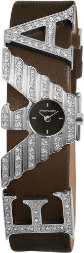 Reloj de Mujer Emporio Armani AR5628 de cuero reloj de pulsera para mujer con circonitas