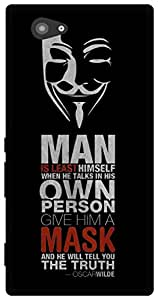 The Racoon Grip Anonymous Quotes hard plastic printed back case for Sony Xperia M2