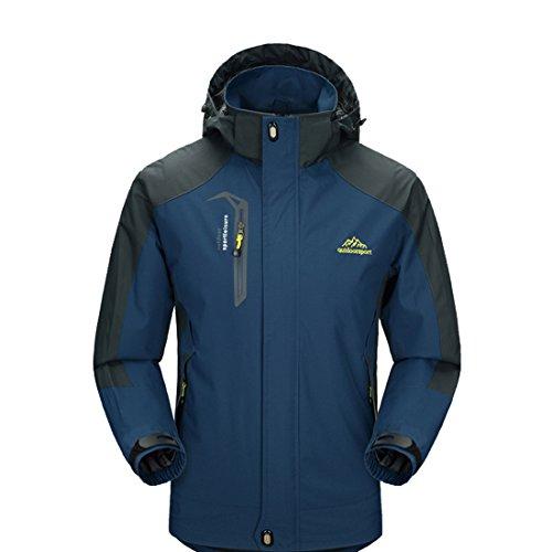 Waterproof Breathable Coat Lightweight Front-Zip Jacket CHAREX Men Sportswear DarkBlue M (Fishing Jacket Waterproof compare prices)