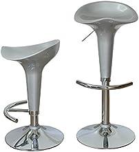 Alsapan 90235 Jazz Lot de 2 Tabourets de Bar Réglable Gris 39 x 39 x 86 cm