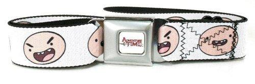 Adventure Time Faces Of Finn Seat Belt Buckle Belt