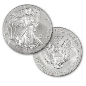 "2010 American Silver Eagle Coin in ""Air-Tite"" Capsule"