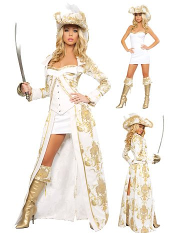 Deluxe Sexy Pirate Queen Costume - XLARGE