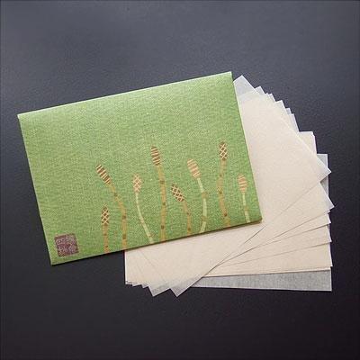 鎌倉四葩のあぶらとり紙 つくし 短冊サイズ