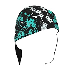 ZANheadgear Flydanna Bamboo/Cotton 'Flowers' Design Bandanna (Multicolor, One Size)