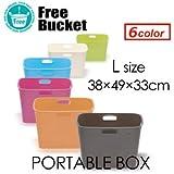 着替え バケツ 収納 PORTABLE BOX ポータブル ボックス Lサイズ OH81 OH81-Lサイズ PINK