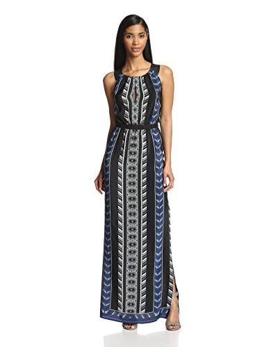 Twelfth St. by Cynthia Vincent Women's Leather Racerback Maxi Dress