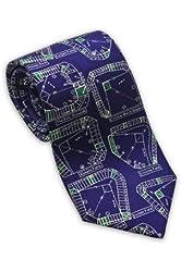 Baseball Stadiums - Men's Silk Necktie