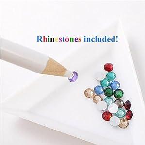 JVVN 2 x Rhinestone Picker Pencil Pen Tool For Nail Art / Crafting With Bonus
