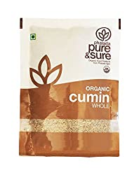 Pure & Sure Organic Whole, Cumin, 100g