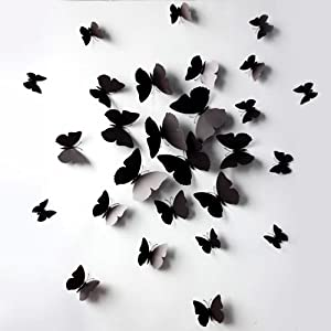 3D 12pcs Butterfly Love Wall Stickers Mural Decal Stickers Art House Decoration from lin's cuties