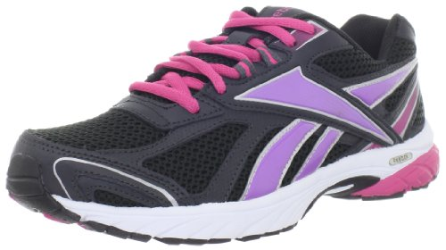 Reebok Women's Pheehan Running Shoe,Gravel/Black/Berry/Purple,8.5 M US