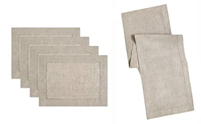 100% Linen Hemstitch Table Linens - Lovingly Hand Crafted and Hand Stitched Placemats & Table Runners with Hemstitch detailing. The pure Linen fabric works well in both casual and formal settings