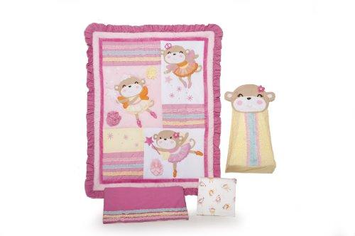 Carter'S 4 Piece Crib Bedding Set, Fairy Monkey front-615402