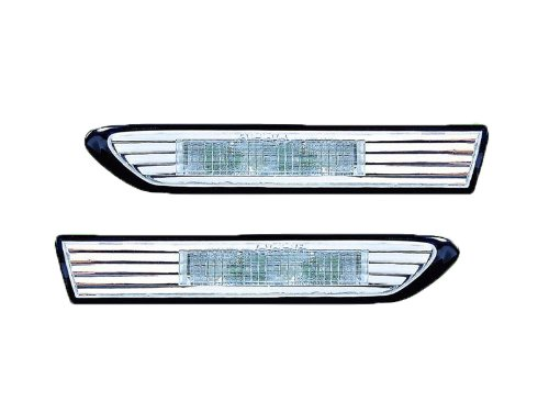 Acura Tl Replacement Side Marker Light Assembly (Led Diamond Design, Clear Lens) - 1-Pair