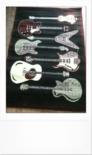 Guitar Rug Design 9070a Americana(5ft2x7ft3in)