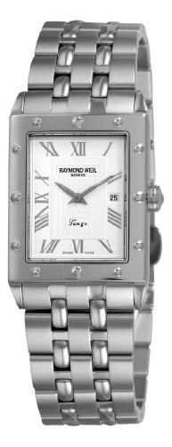 Raymond Weil 5381-ST-00658 28mm Silver Steel Bracelet & Case Anti-Reflective Sapphire Men's Watch