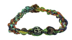 Handmade Multi Color Beaded Hemp Bracelet, Friendship Bracelet, Surf Bracelet