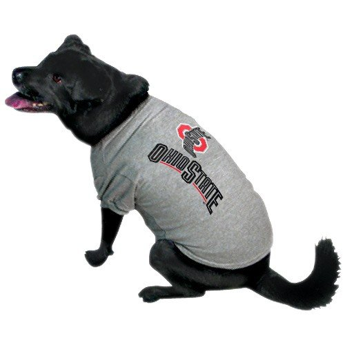 Ncaa Ohio State Buckeyes Pet T-Shirt, Small, Team Color front-730908