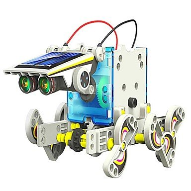 ANDP NEJE DIY 14 In 1 Solar Powered Robot Pattern Building Block Assembling