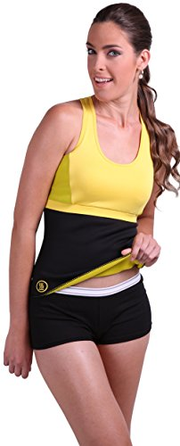 Slim Abs Premium Waist Trimmer Belt (S/M) - Hot Sauna and Belt for Men and Women - Body Shaper Designed To Generate and Absorb Sweet Sweat - Shapers Unique Compression Promotes Weight Loss and Burns Fat (Abs Belt For Women compare prices)