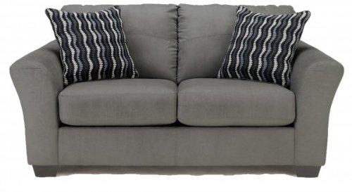Gray Upholstered Loveseat