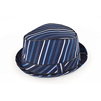 Crazy Lines Fedora hat in blue size LG