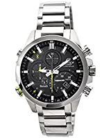 Casio Edifice Mens EQB500D1AER Stainless Steel Bluetooth Chronograph Solar Bracelet Wrist Watch