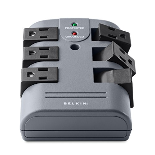 Belkin 6-Outlet Pivot Wall Mount Surge Protector, BP106000