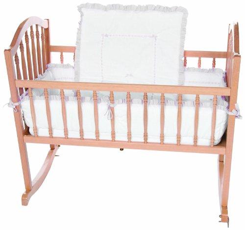 Baby Doll Unique Cradle Bedding Set, Grey