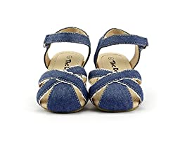 Girl\'s Summer Closed Toe Sandals Trendy Fashion for Little Girls Blue Size 07 #1421002B Toddler