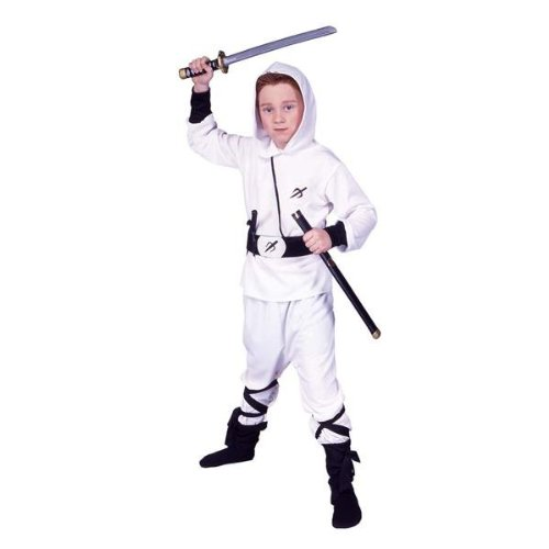 RG Costumes 90243-M White Ninja Ranger Costume - Size Child-Medium