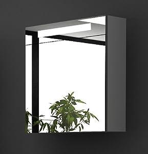 m bel f r s bad spiegelschrank mit beleuchtung s 60 weiss inkl soft close funktion. Black Bedroom Furniture Sets. Home Design Ideas