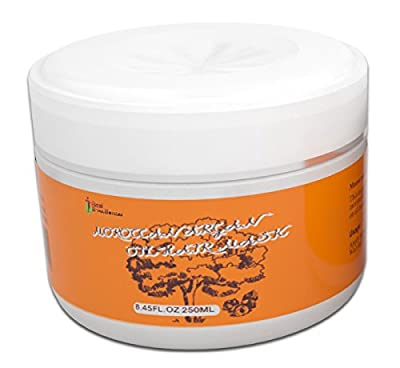 Intensive Hydrating Moroccan Argan Oil Hair Mask by Real Smoothness ~ Protein Enriched Formula Designed Deeply Condition Dry Damaged Hair & Restore Elasticity ~ FREE Bonus Satin Hair Cap