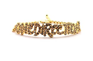 Rhinestone One Direction Infinity Directioner Bracelet W 4mm Link Chain Xb286g by NYfashion101inc