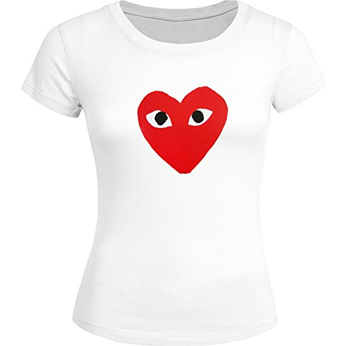 CDG PLAY COMME des GARCONS For Ladies Womens T-shirt Tee Outlet