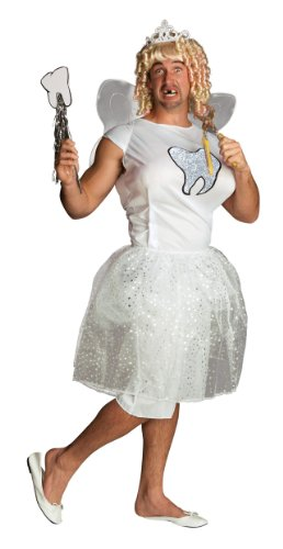 [Rubie's Costume Double Take Too Fairy Costume, White, One Size] (Tooth Fairy Costumes)