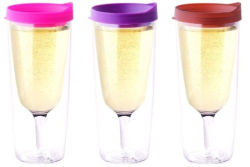 Pink Purple Merlot Slide Top Lid Vino2Go Xl Set Of 3 Jumbo Adult Drink Wine Sippy Cup Tumbler