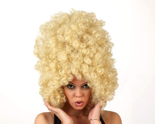 Imagen principal de Big blonde afro wig for adults (peluca)