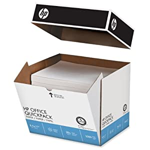 HP Office Quickpack Paper, 92 Brightness, 8.5 x 11 Inches, 2500 Sheets (11210-3)