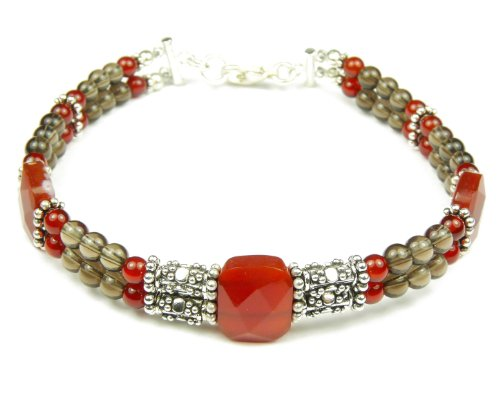 Damali - Where There is Smoke, there is Fire! Bracelet in Sterling Silver - Small 6.5 Inches