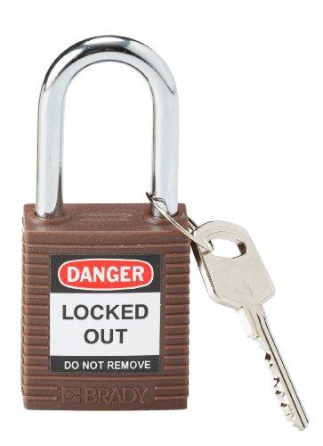 Brady 118948 Brown, Brady Keyed Alike Safety PadLock (6 Locks) brady catalog number m 143 427