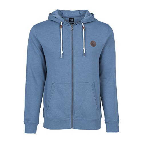 Volcom Single Stone Zip felpa da uomo, Uomo, Hoodie Single Stone Zip, Grey Blue, XL