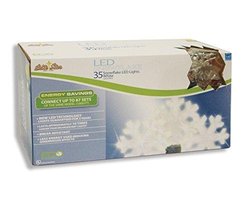 35 Light Snowflake Shaped Led Set