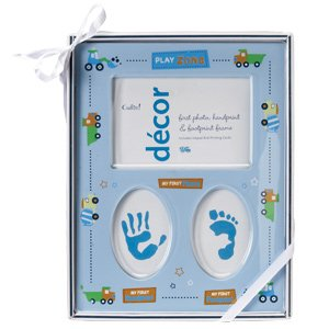 FIRST PHOTO, HANDPRINT & FOOTPRINT FRAME -BOY/Photo Frame/Picture Frame/Baby Shower