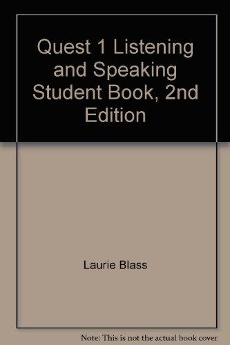 Quest 1 Listening and Speaking Student Book, 2nd Edition