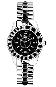 Christian Dior Women's CD112116M001 Christal Black Dial Diamond Watch from Christian Dior