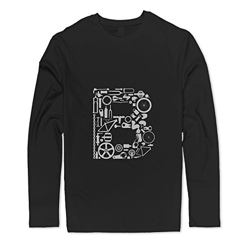 Printed Bike Lace Long Sleeve Long Sleeve Tees Man New Style (700c Black Disc Rim compare prices)